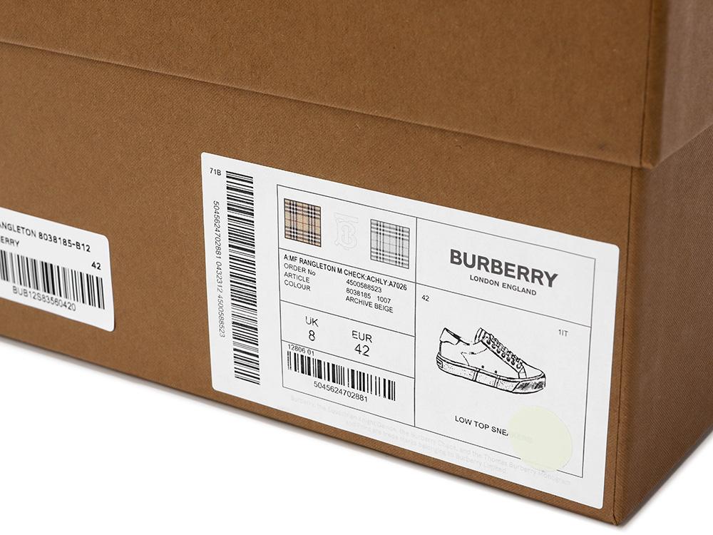버버리(BURBERRY) (MF RANGLETON 8038185) 남성 스니커즈 21FW